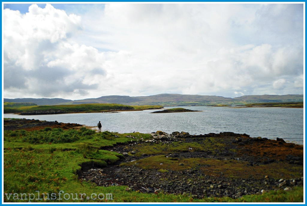 seal beach Dunvegan Castle Isle of Skye Highlands Scotland