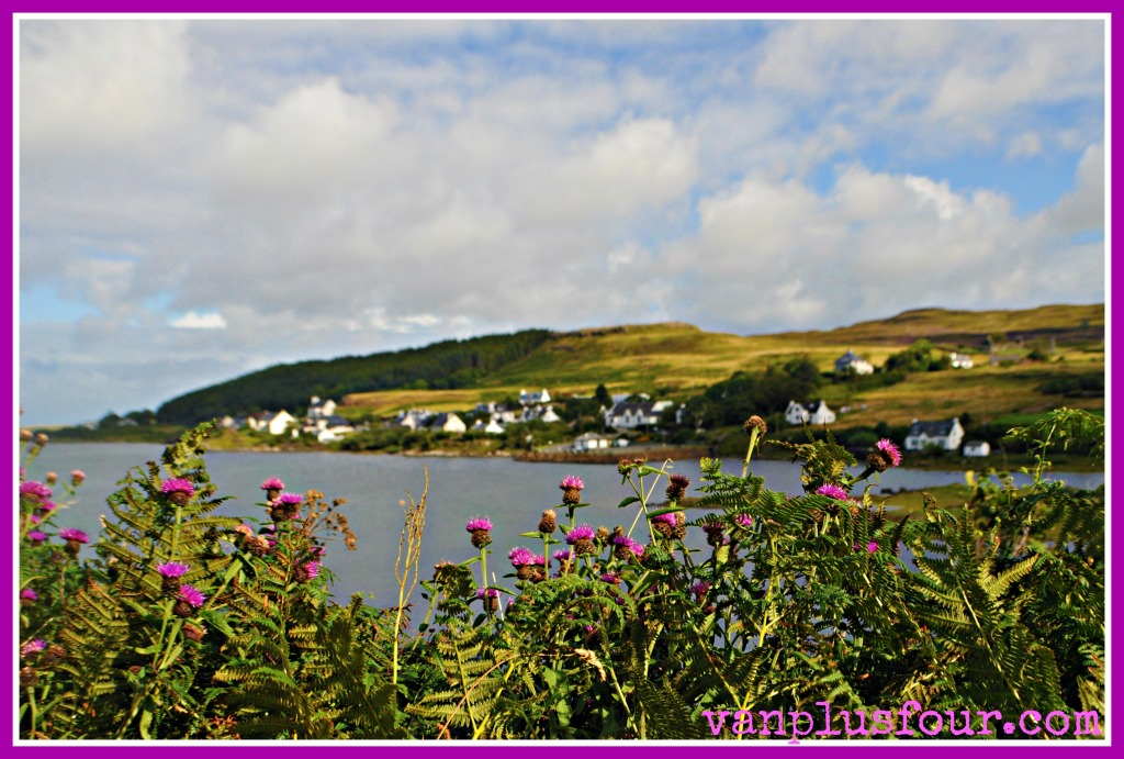 Kinloch camp site Dunvegan Isle of Skye Highlands Scotland