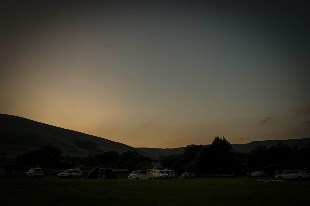 Waterside Farm campsite, Edale Valley, Peak District, England, UK