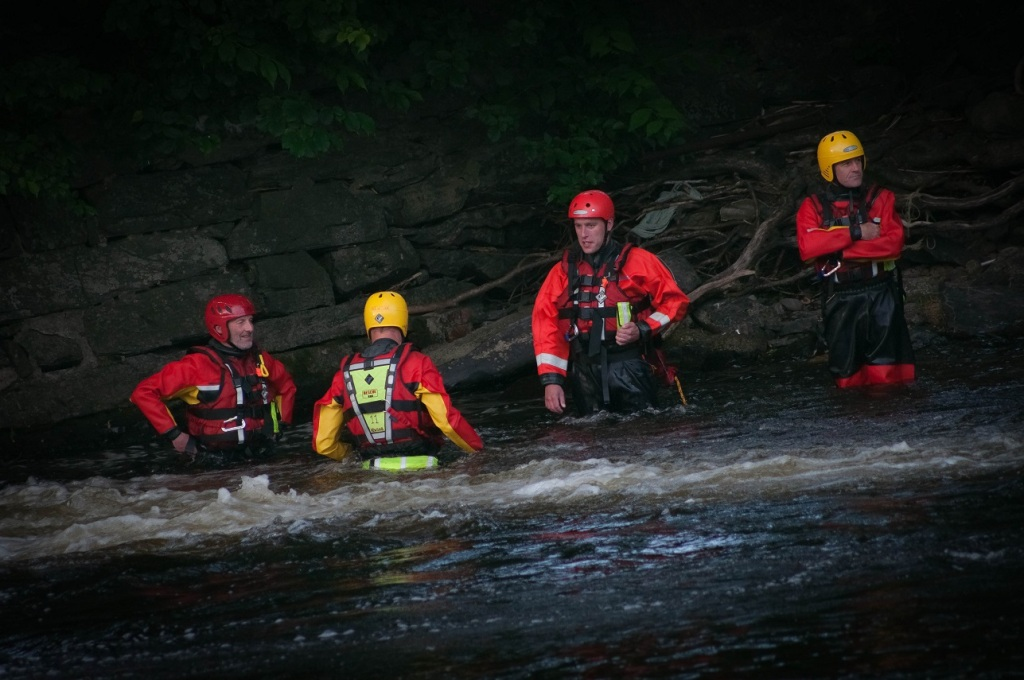 NEWSAR rapid water rescue training, Llangollen, North Wales