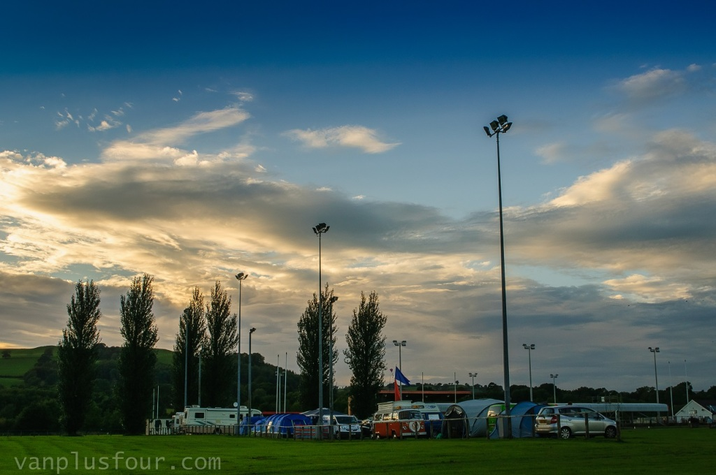 Llandovery rugby club camp site, South Wales