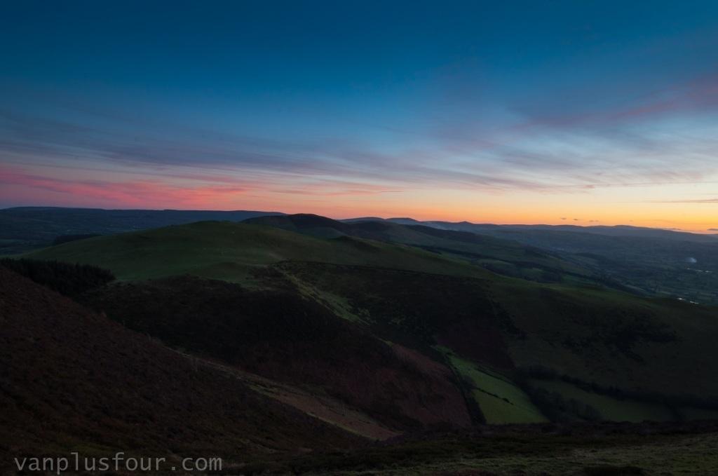 Moel Fenlli, Clywedian Range, North Wales, UK