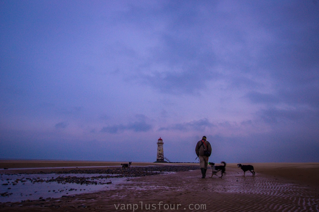 Point of Ayr Lighthouse, Talacre Beach, Flintshire, North Wales, UK