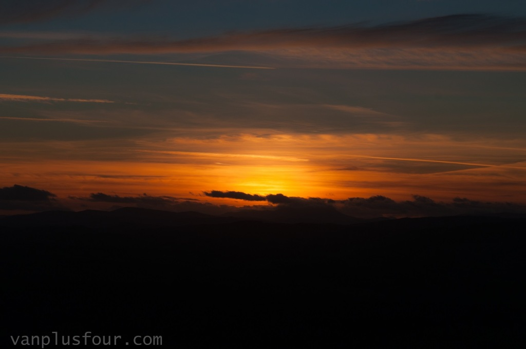 sunset chasing on Foel Fenli, North Wales, UK