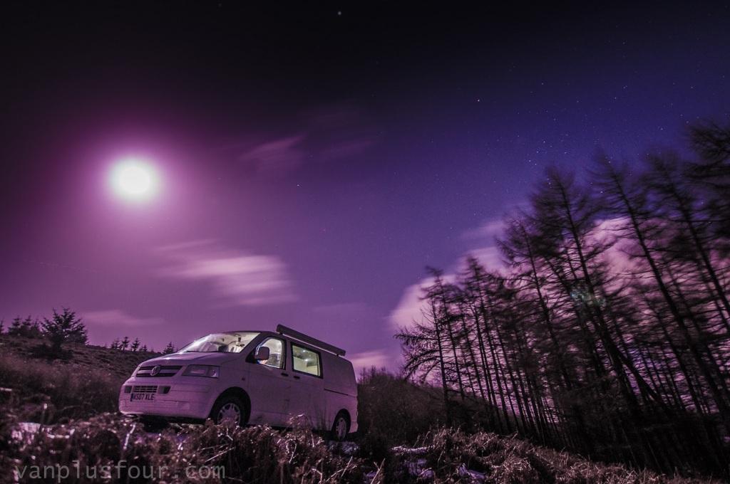 night shoot, Worlds End, Llangollen, North Wales, UK