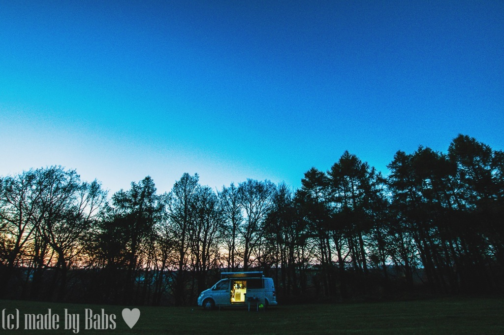 T5, VW, Cotswolds, sunset, Gloucestershire, UK, England